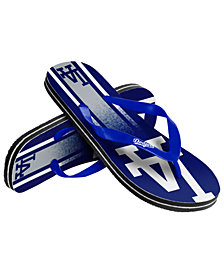 Forever Collectibles Los Angeles Dodgers Gradient Big Logo Flip Flops