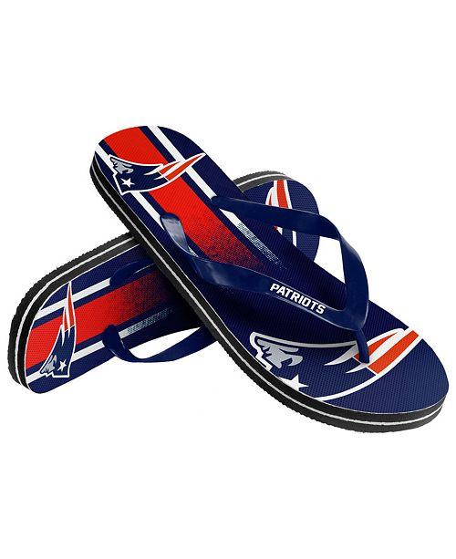 32eb82141022 Forever Collectibles New England Patriots Gradient Big Logo Flip Flops