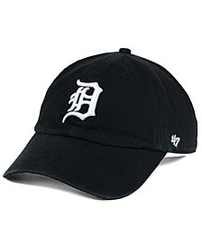 Detroit Tigers Black White Clean Up Cap