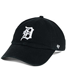 '47 Brand Detroit Tigers Black White Clean Up Cap
