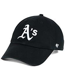 Oakland Athletics Black White Clean Up Cap
