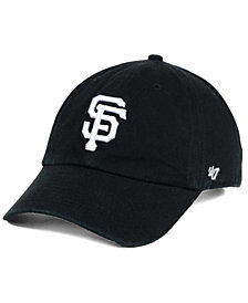 '47 Brand San Francisco Giants Black White Clean Up Cap