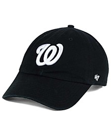 Washington Nationals Black White Clean Up Cap