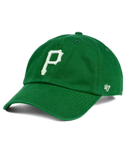 '47 Brand Pittsburgh Pirates Kelly/White Clean Up Cap