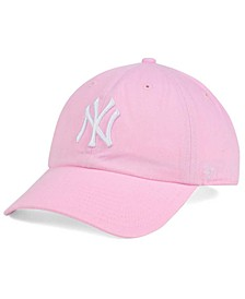 Women's New York Yankees Pink/White Clean Up Cap