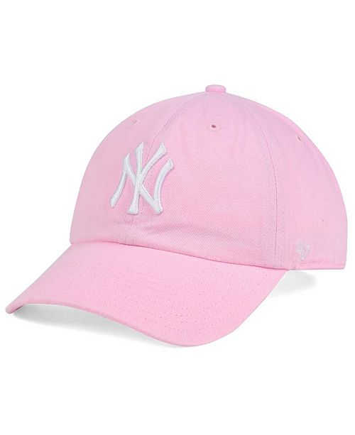 36375352d00 ... Cap   47 Brand Women s New York Yankees Pink White Clean Up ...