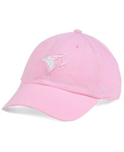 '47 Brand Women's Toronto Blue Jays Pink/White Clean Up Cap