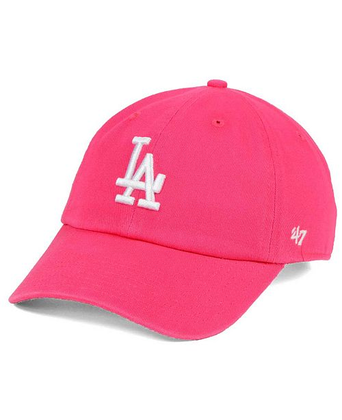 Christmas Tree Lane Los Angeles: '47 Brand Women's Los Angeles Dodgers Pink/White Clean Up