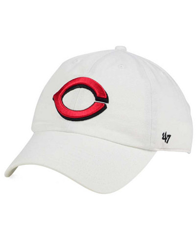'47 Brand Cincinnati Reds White Clean Up Cap