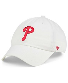 '47 Brand Philadelphia Phillies White Clean Up Cap