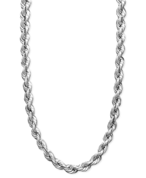 "30"" Rope Chain Necklace in 14k White Gold"