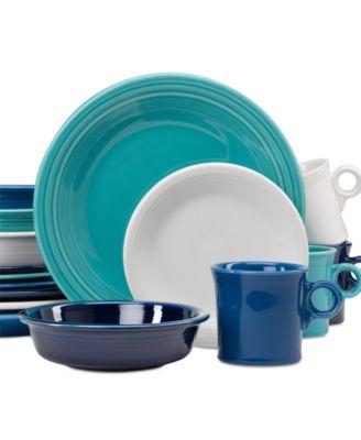 Fiesta Blues 16-Piece Dinnerware Set  sc 1 st  Macy\u0027s & Macy\u0027s Exclusive! Fiesta Blues 16-Piece Dinnerware Set ...