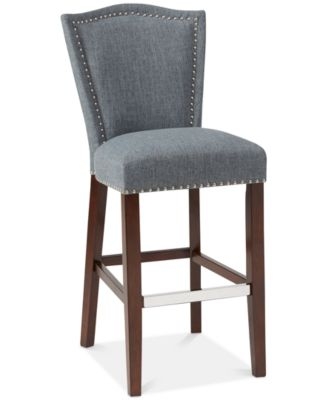 Nate 30u0027u0027 Bar Stool Quick Ship  sc 1 st  Macyu0027s : tufted leather bar stool - islam-shia.org