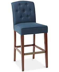 "Marian Tufted 30"" Bar Stool, Quick Ship"