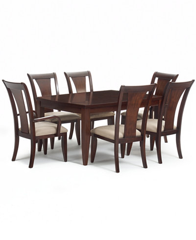 Metropolitan Contemporary 7 Piece Dining Set Table 4 Side Chairs 2 Furniture