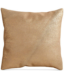 "Donna Karan Opal Essence Leather 16"" Square Decorative Pillow"