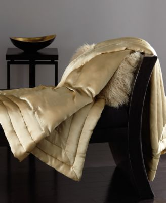 image 1 of donna karan silk quilted throw