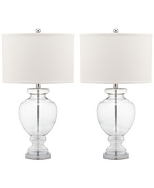 Safavieh Set of 2 Glass Table Lamps
