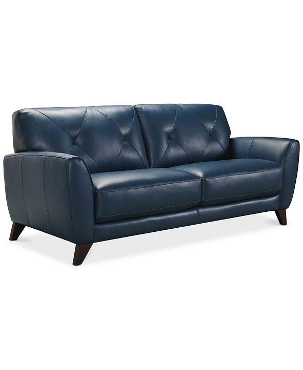 "Furniture Myia 82"" Leather Sofa, Created for Macy's"
