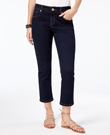I.N.C. Curvy-Fit Cropped Skinny Jeans, Created for Macy's