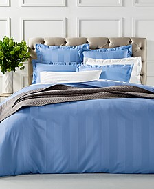 "CLOSEOUT!  3"" Stripe Duvet Cover Collection, 550 Thread Count 100% Supima Cotton, Created for Macy's"