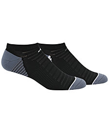 adidas Men's 2 Pack Speed Mesh ClimaLite No-Show Socks