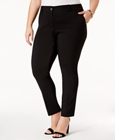 MICHAEL Michael Kors Plus Size Miranda Stretch Slim-Leg Pants