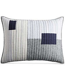 CLOSEOUT! Hotel Collection  Patchwork Quilted Standard Sham, Created for Macy's