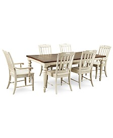 Barclay Expandable Dining Room Furniture, 7-Pc. Set (Dining Table, 4 Side Chairs & 2 Arm Chairs)