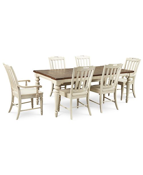 Furniture Barclay Expandable Dining Room 7 Pc Set Table