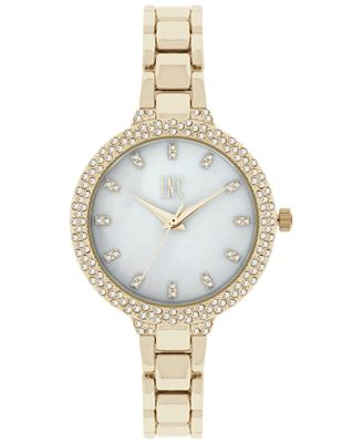 INC International Concepts Women's May Gold-Tone Bracelet Watch 34mm, Only at Macy's