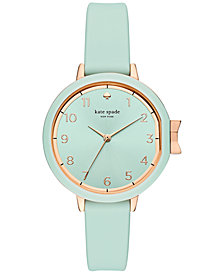 kate spade new york Women's Park Row Cirrus Blue Silicone Strap Watch 34mm KSW1314