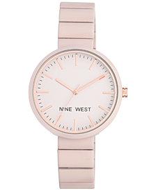 Nine West Women's Matte Pink Rubberized Bracelet Watch 36mm NW-2012LPRG