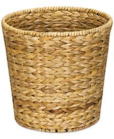 Water Hyacinth Wicker Waste Basket