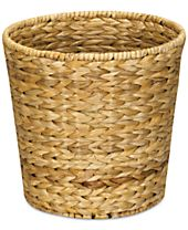 Household Essentials Water Hyacinth Wicker Waste Basket
