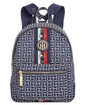 Jaden Monogram Jacquard Backpack