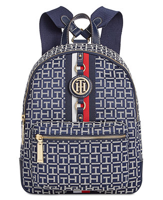 Tommy Hilfiger Jaden Monogram Jacquard Backpack Handbags