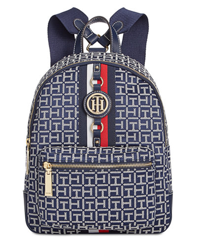 Tommy Hilfiger Jaden Monogram Jacquard Small Backpack