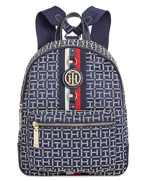 Tommy Hilfiger Jaden Monogram Jacquard Backpack