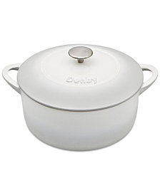 Denby Natural Canvas Cast Iron 5.5 Qt. Round Covered Casserole