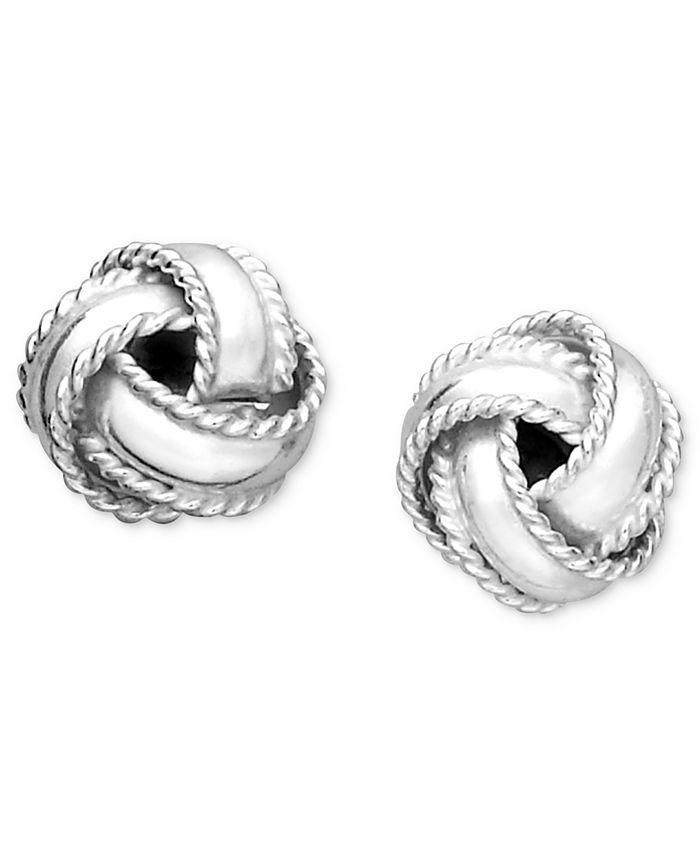 Giani Bernini - Sterling Silver Earrings, Small Love Knot Stud Earrings