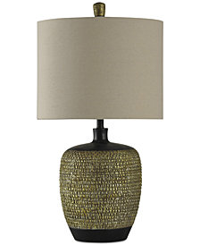 StyleCraft Transitional Barrel Table Lamp