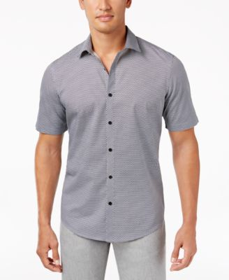 Image of Alfani Men's Tonal-Print Shirt, Only at Macy's