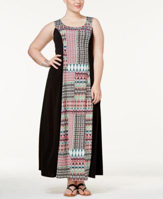 Lucky Brand Printed Keyhole Dress Dresses Women Macy S