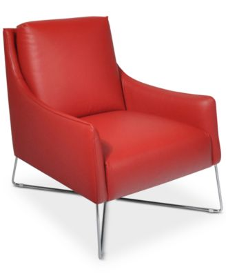 Jollene Leather Accent Chair Only At Macy S Furniture