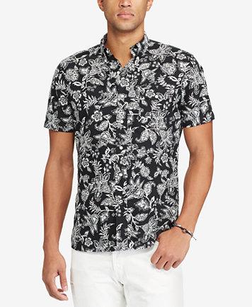 Polo Ralph Lauren Men's Standard Fit Floral-Print Short-Sleeve ...