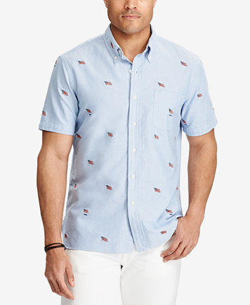 Slide View: 6: Bamboo Cay Embroidered California Short Sleeve Button-Down  Shirt