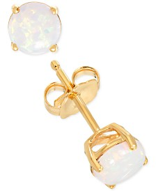 Lab-Created Opal Stud Earrings (1/3 ct. t.w.) in 14k Gold