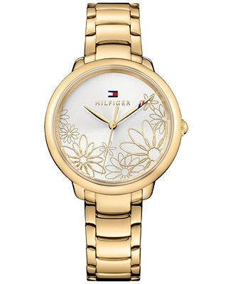 Tommy Hilfiger Women's Gold-Tone Bracelet Watch 36mm 1781781, a Macy's Exclusive Style