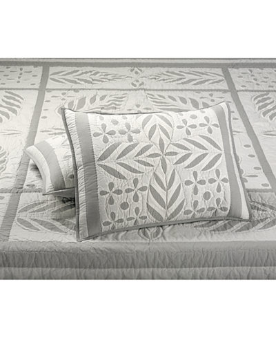 CLOSEOUT! Martha Stewart Collection Fern Medallion 100% Cotton Quilted Standard Sham, Created for Macy's